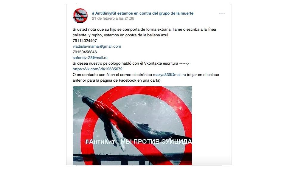 Grupos de ayuda a las víctimas #AntiSiniyKit activos en la red VKontakte