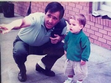 Seve Ballestero con su hijo Javier