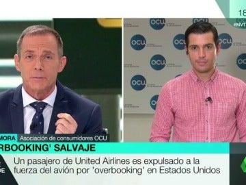 """Frame 2.958165 de: Jorge Mora, ante el 'overbooking' de las compañías: """"estamos absolutamente desprotegidos cuando ocurren este tipo de fenómenos"""""""