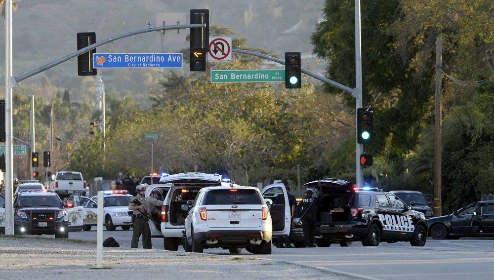 Dispositivo policial en San Bernardino (Archivo)