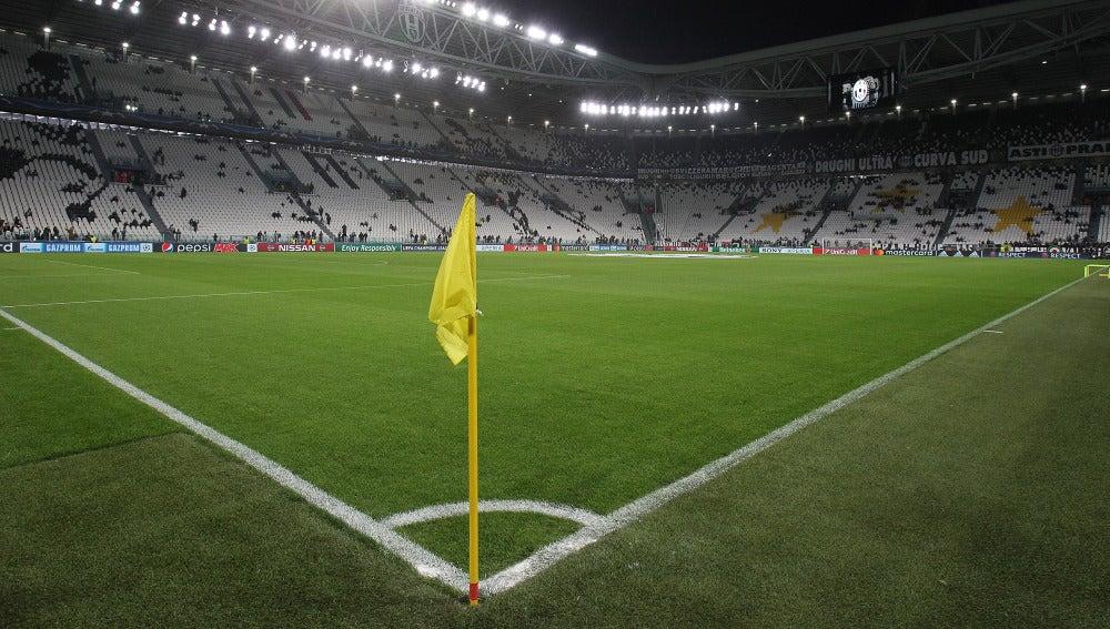 Vista del Juventus Stadium desde el córner