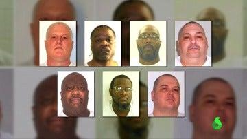 Los siete presos condenados a pena de muerte