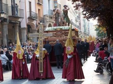Paso de Semana Santa en Logroño, en la procesión del Viernes Santo