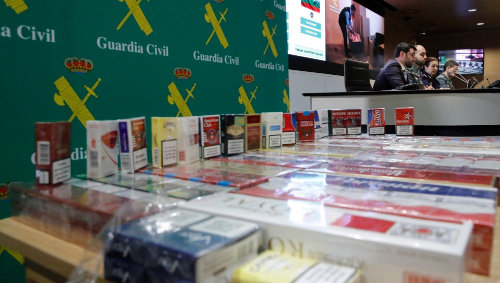 Tabaco incautado en una operación de la Guardia Civil
