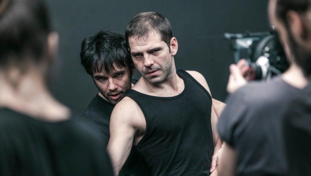 Raúl Peña y Jorge Monje (primer plano), protagonistas de El Debut