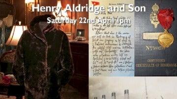 Imagen del abrigo en la web de la casa de subastas Henry Aldridge & Son