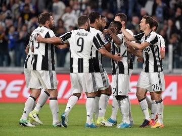 La Juventus celebrando un gol