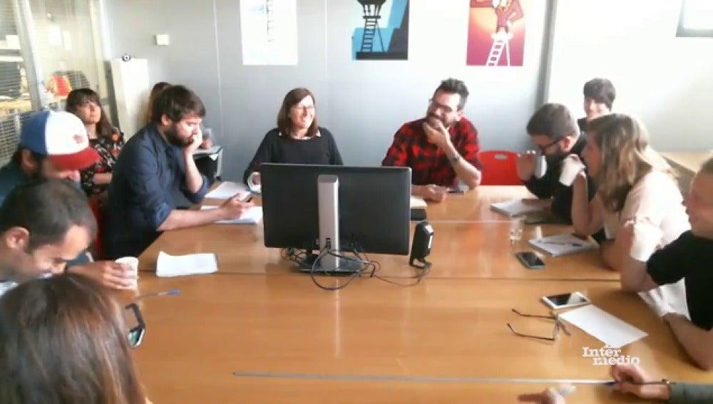 Reunión de guión de El Intermedio