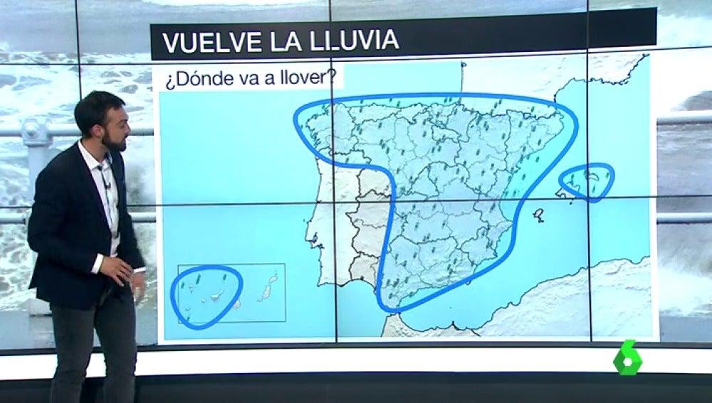 Frame 27.538158 de: Vuelve la lluvia y las bajas temperaturas a toda España: ¿será suficiente para mejorar la fuerte sequía?