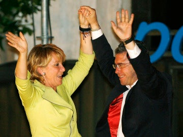 Esperanza Aguirre junto a Francisco Granados