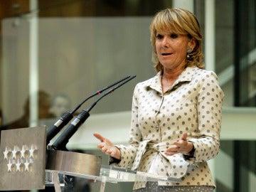 Esperanza Aguirre comparece tras vivir un atentado
