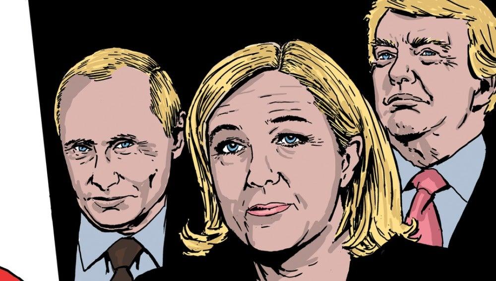 Un cómic relata cómo Marie Le Pen es ya presidenta de Francia