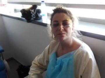 Imagen del vídeo de Eva en la sala del hospital