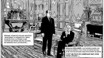 Marie Le Pen, como presidenta de Francia
