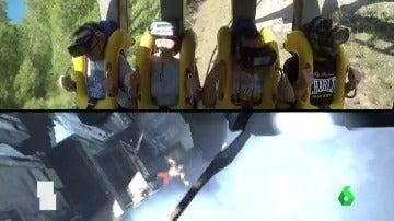 Frame 81.227649 de: Inauguran la primera montaña rusa de España que incorpora realidad virtual