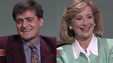 Los años 90, la época en la que Wyoming y Esperanza Aguirre compartían plató