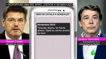 Mensaje de Rafael Catalá a Ignacio González