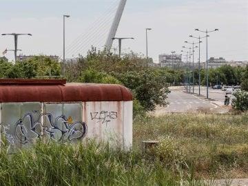 Imediaciones del estadio de la Cartuja de Sevilla