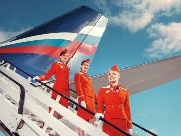 Imagen promocional de la aerolínea  Aeroflot