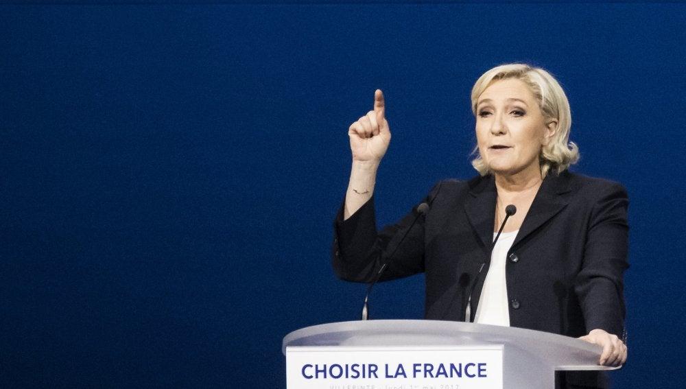 Marine Le Pen, candidata del Frente Nacional a la presidencia de Francia