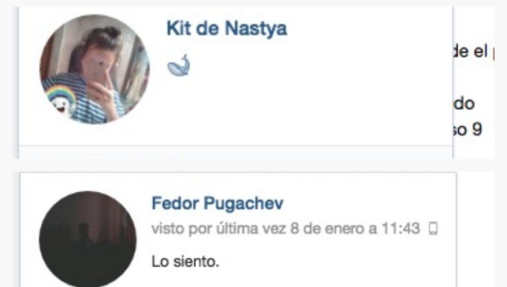 Perfiles de algunas de las víctimas en la red social VKontage