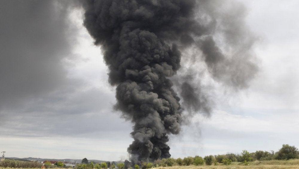 Incendio en Arganda del Rey