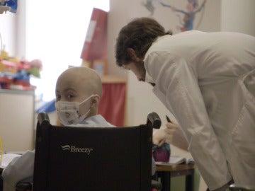 Niño en el Hospital La Paz