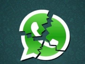 Logotipo de WhatsApp roto