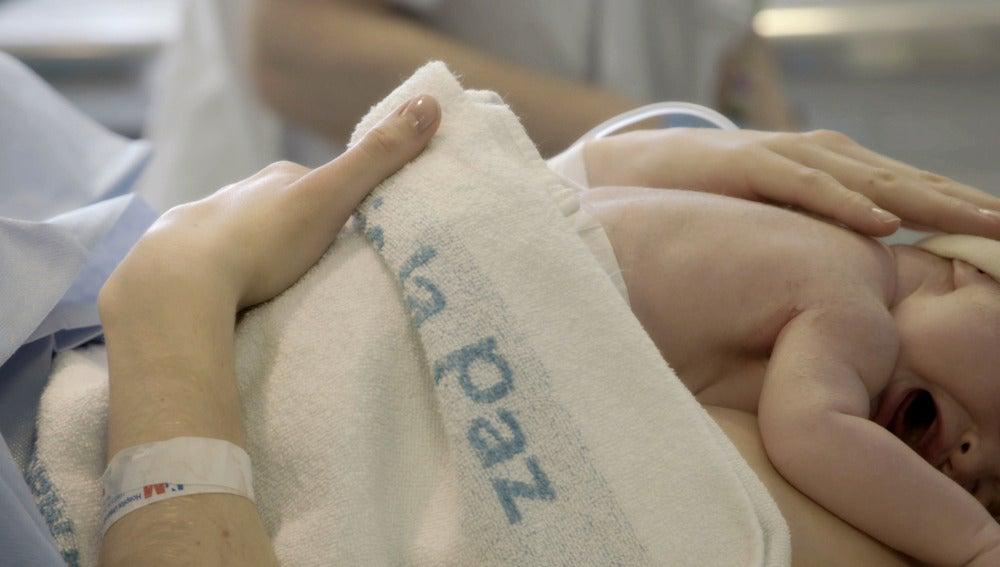 Bebé en el Hospital La Paz