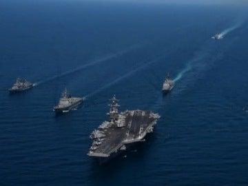 Nueva demostración de fuerza naval de EEUU en aguas del Pacífico en plena escalada de tensión con Corea del Norte