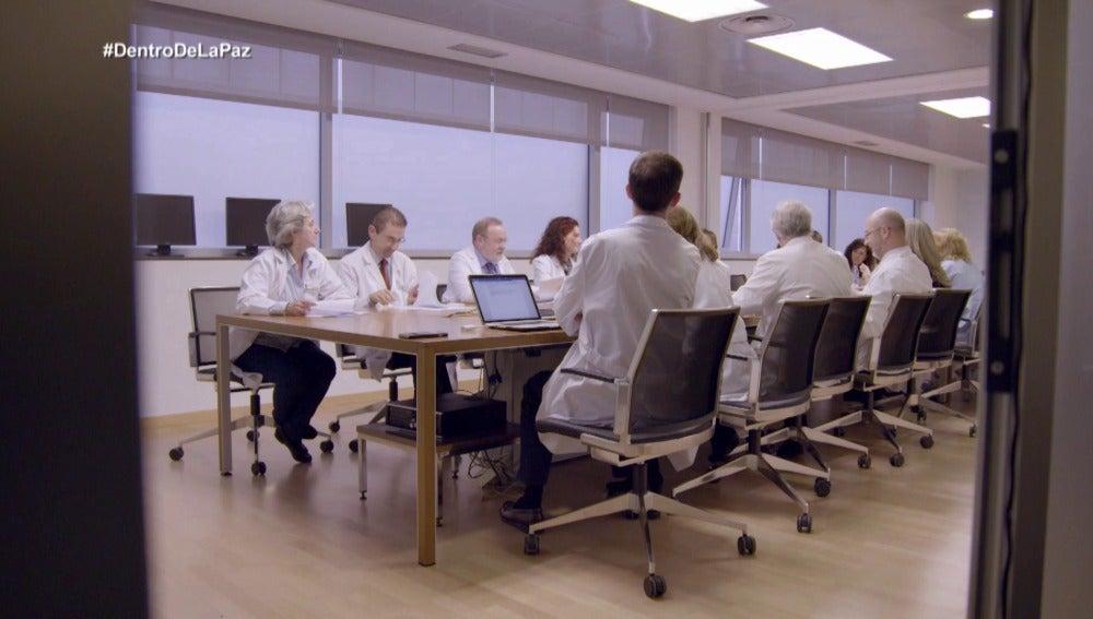 Comité en el Hospital La Paz