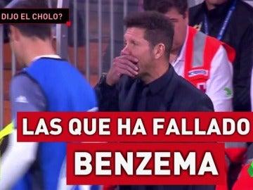 Frame 21.399298 de: Simeone aclara su episodio con Morata en la banda del Bernabéu durante el Madrid-Atlético
