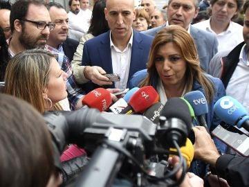 La precandidata a la Secretaría General del PSOE en el proceso de primarias y presidenta de Andalucía, Susana Díaz