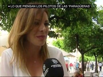 Irene Gómez, azafata en el circuito de Jerez