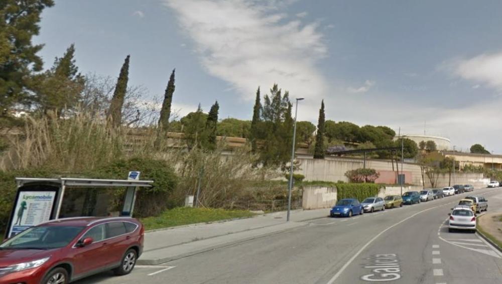 Lugar del suceso en la Calle Galicia, Mataró