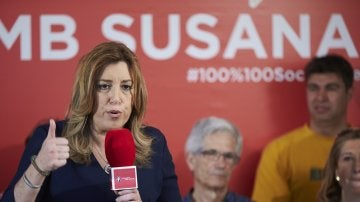 La candidata en las primarias para liderar el PSOE, Susana Díaz