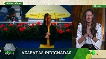 Raquel Muñoz, azafata en el Condo Godó de Barcelona