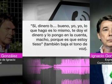 Conversación entre Ignacio González y su hermano