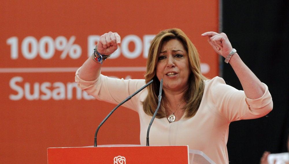 La presidenta andaluza y candidata a la Secretaría General del PSOE, Susana Díaz