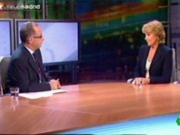 Entrevista de Germán Yanke a Esperanza Aguirre en Telemadrid