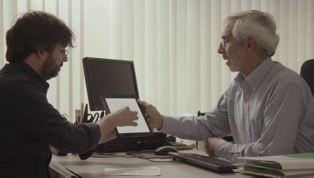 Jordi Évole con el presidente de Escal UGS
