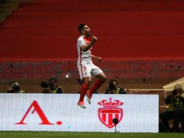 Falcao celebra un gol con el Mónaco