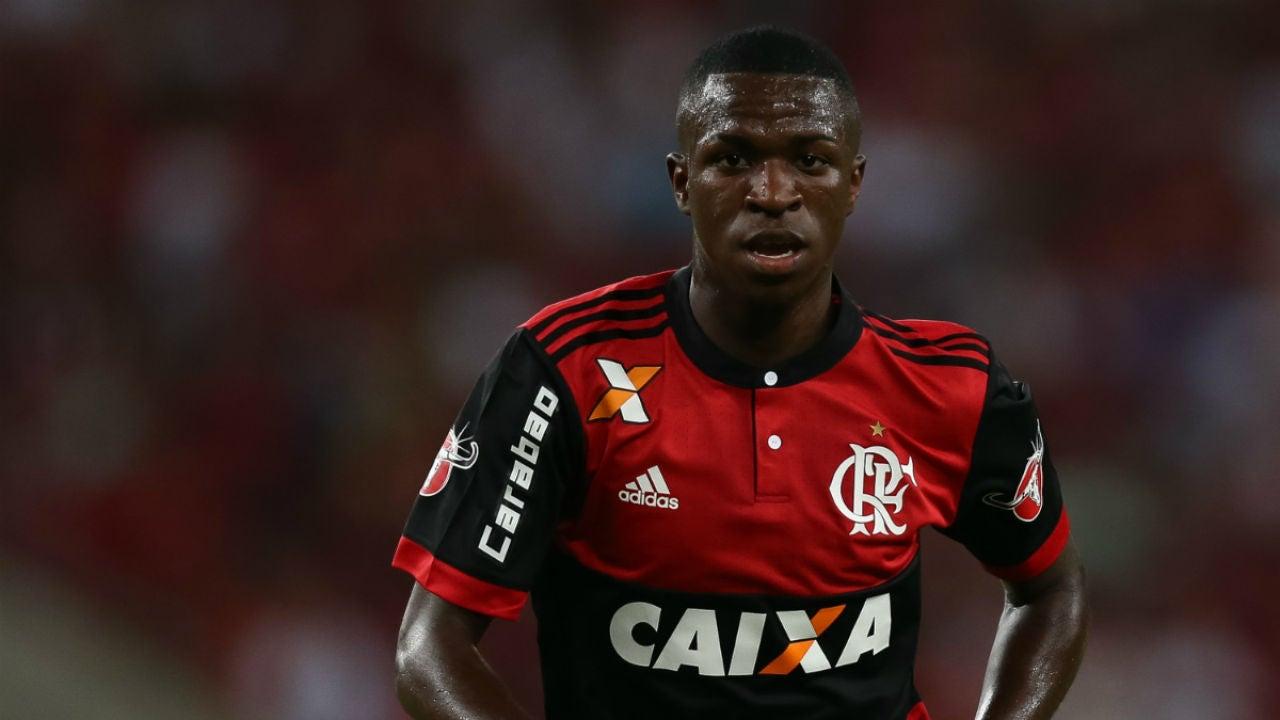 Vinicius, con el Flamengo