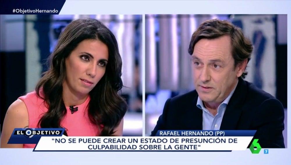 Ana Pastor y Rafael Hernando en el Objetivo