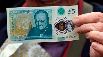 Imagen del nuevo billete de 5 libras de Reino Unido