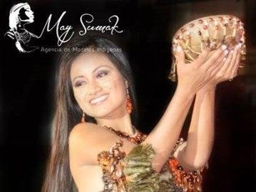 Una de las modelos de la agencia de modelos indígena May Sumak