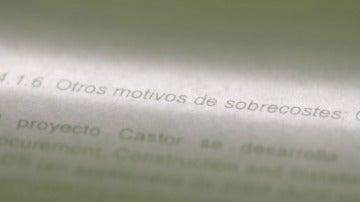 Documento confidencial sobre Castor al que Salvados ha tenido acceso