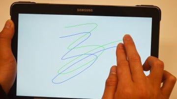 Garabatos en una tablet