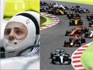 Felipe Massa, en acción en el GP de España