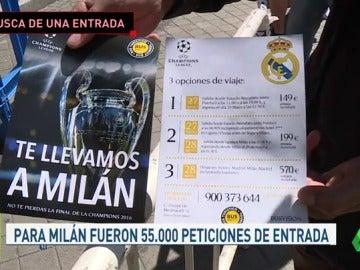 Frame 26.486298 de: El Madrid recibe menos peticiones de entradas para la final de Cardiff que para la de Milán